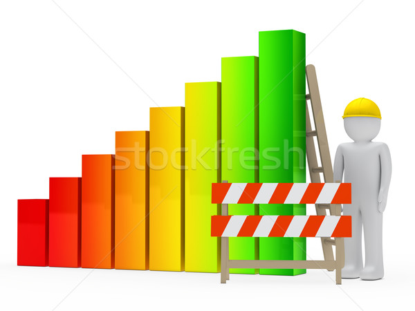 man construction bar graph Stock photo © dariusl