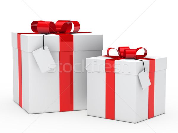 Szkatułce dwa christmas urodziny polu Zdjęcia stock © dariusl