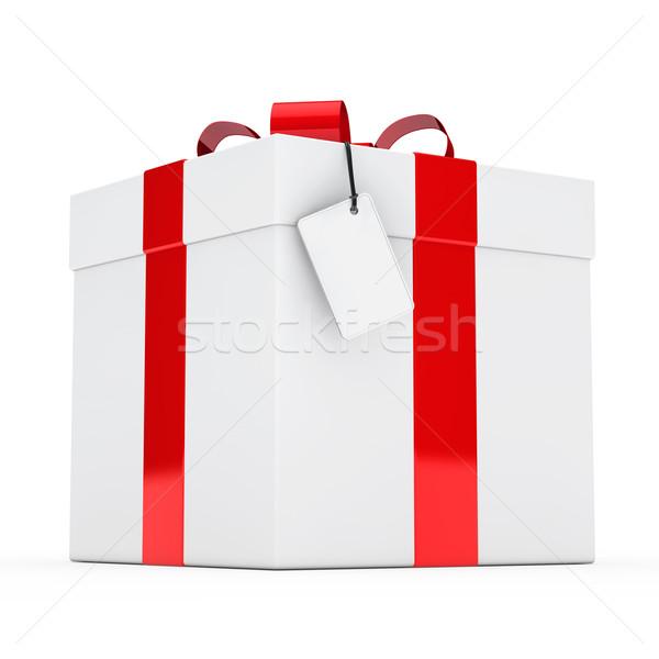 ギフトボックス クリスマス 白 歳の誕生日 ボックス ストックフォト © dariusl