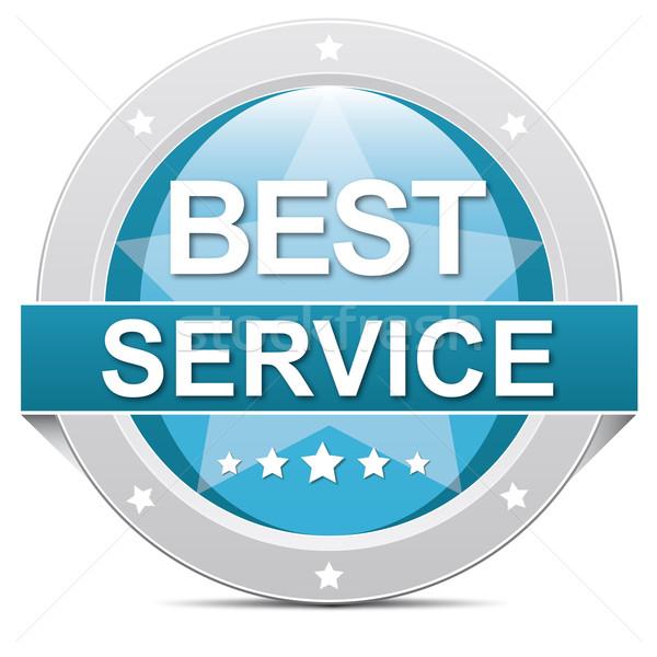 Migliore servizio pulsante blu banner bianco Foto d'archivio © dariusl