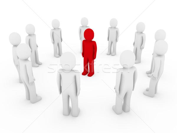 Cerchio rosso bianco lavoro di squadra Foto d'archivio © dariusl