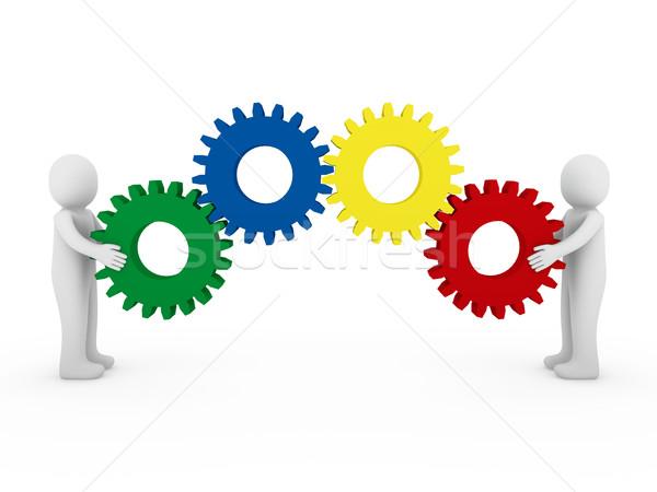 Narzędzi czerwony zielone niebieski żółty Zdjęcia stock © dariusl