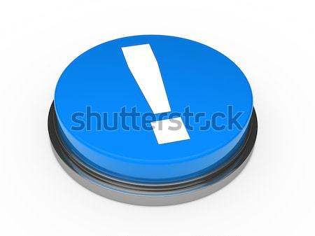3d blue button exclamation mark  Stock photo © dariusl