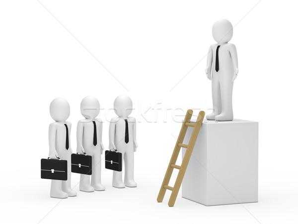 équipe commerciale leader 3D cube affaires boîte Photo stock © dariusl