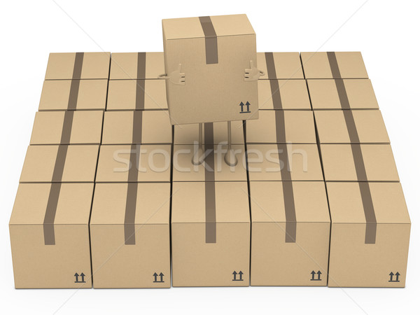Paket kahverengi durmak kutu konteyner karton Stok fotoğraf © dariusl