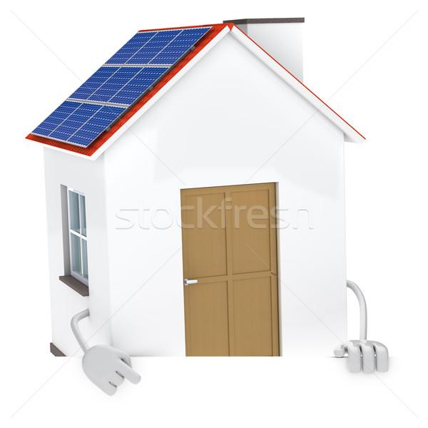 solar house figure Stock photo © dariusl