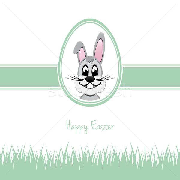 happy easter bunny egg grass green Stock photo © dariusl