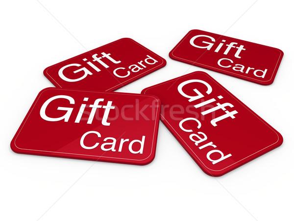 3D tarjeta de regalo rojo celebración saludo venta Foto stock © dariusl