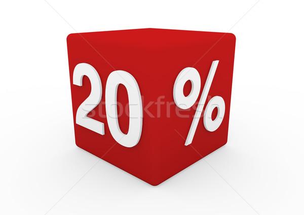 Сток-фото: 3D · красный · белый · продажи · куб · 20