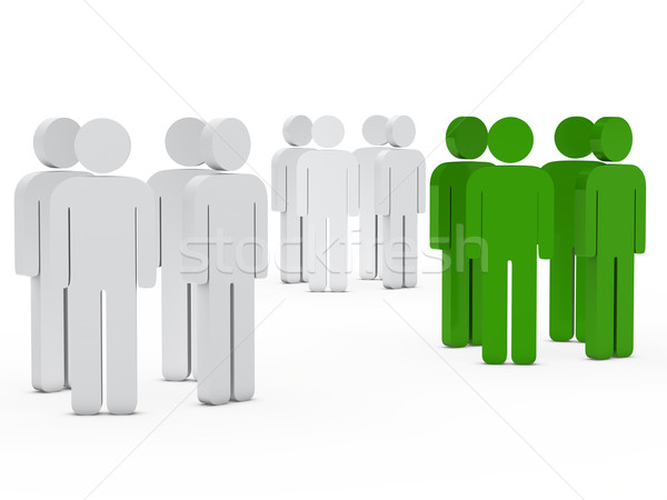 team people group white green Stock photo © dariusl
