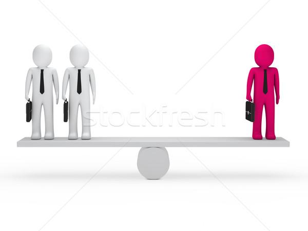 Uomini d'affari equilibrio altalena valigetta rosa lavoro Foto d'archivio © dariusl