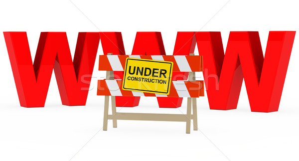 www under construction Stock photo © dariusl