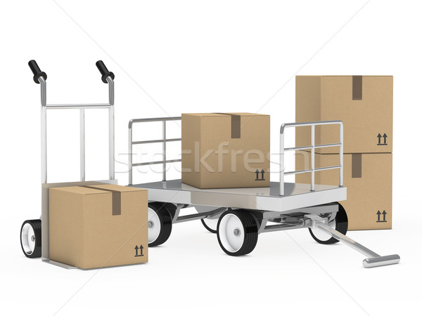 package trolley and hand truck Stock photo © dariusl