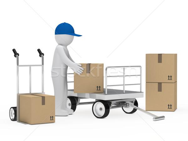 figure pick up package  Stock photo © dariusl