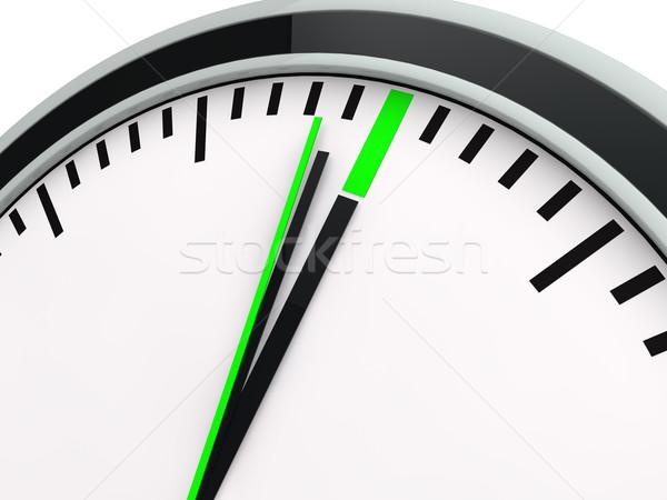 3D zaman saat son teslim tarihi geriye sayım yeşil Stok fotoğraf © dariusl