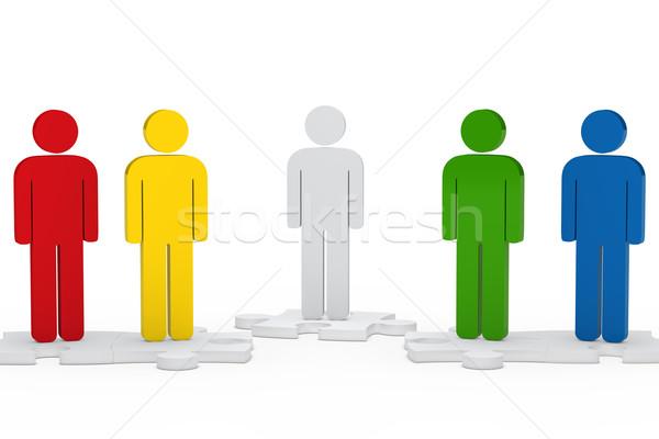 men figure team Stock photo © dariusl