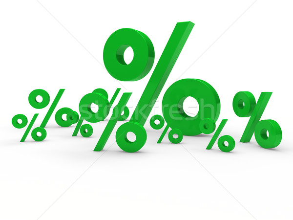 Stock photo: 3d green sale percent