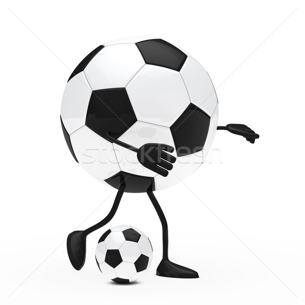 football figure shoots a ball Stock photo © dariusl