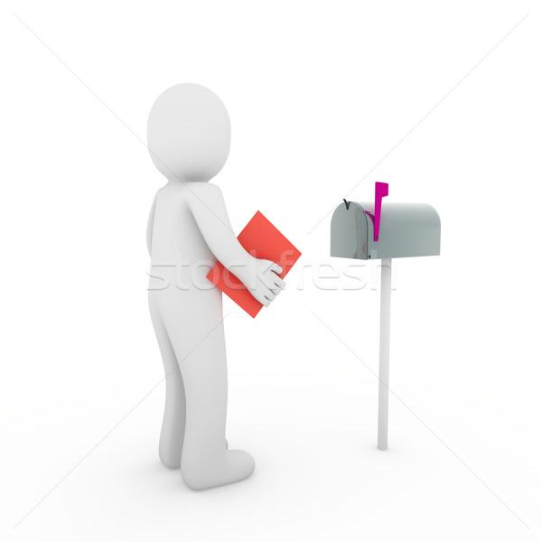 Stok fotoğraf: Mektup · posta · kutusu · kırmızı · gönderemezsiniz · kutu