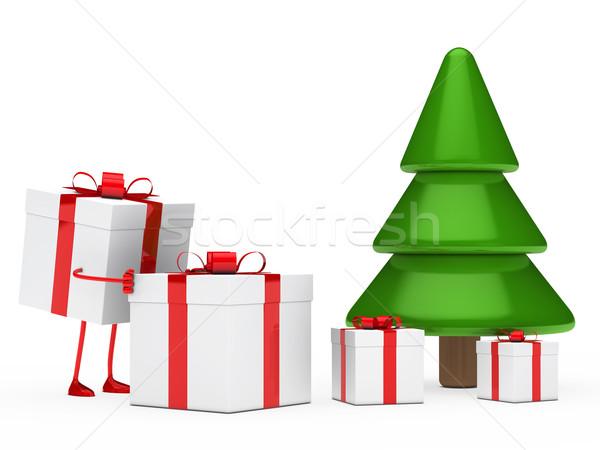 図 ギフトボックス クリスマス 赤 ギフト ストックフォト © dariusl