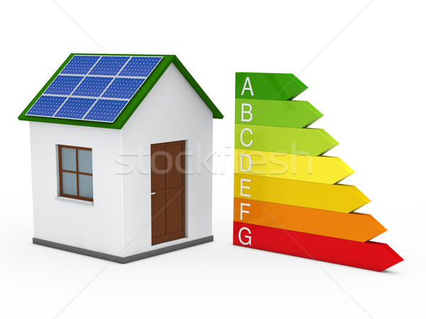 3d house solar energy bar Stock photo © dariusl