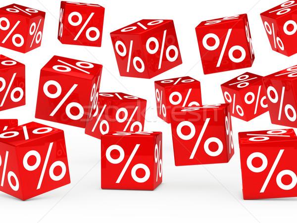 red sale percent cubes  Stock photo © dariusl