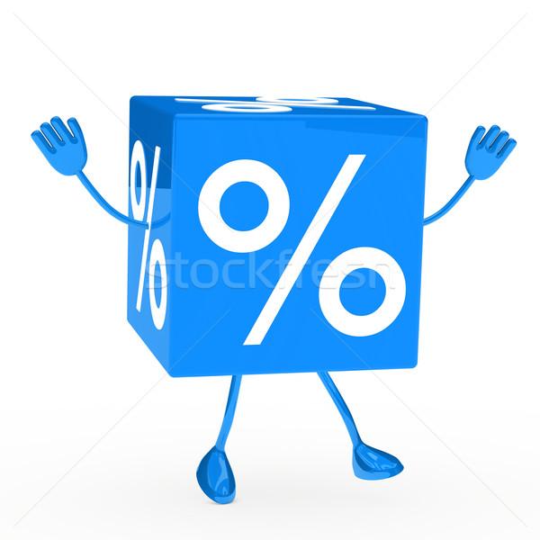 blue sale cube wave Stock photo © dariusl