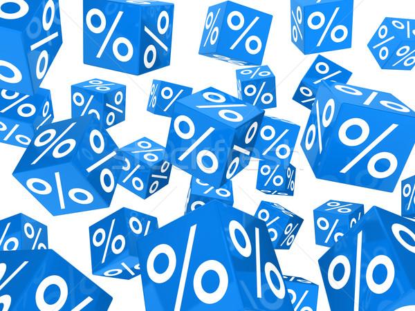 blue sale percent cubes  Stock photo © dariusl