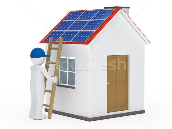 Сток-фото: человека · лестнице · дома · солнечной · солнце