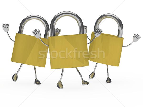 metal lock figure Stock photo © dariusl