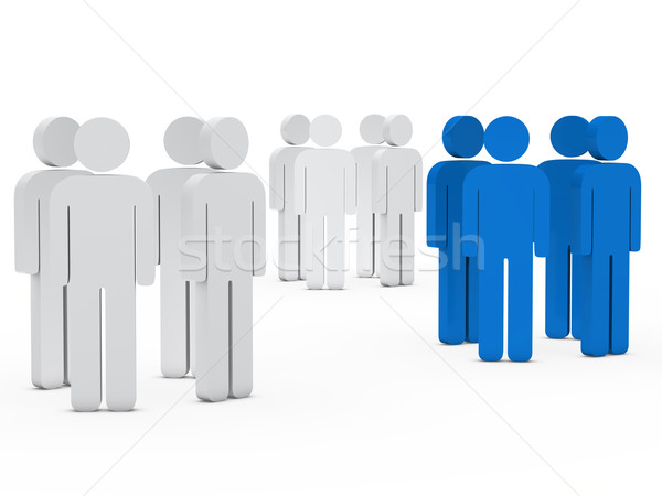 team people group white blue Stock photo © dariusl