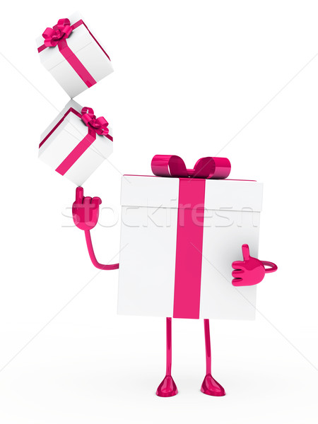 gift box balance Stock photo © dariusl