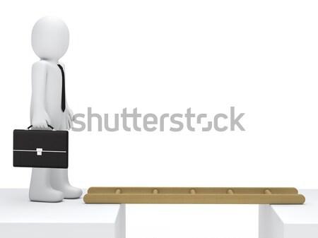businessman stand on board Stock photo © dariusl