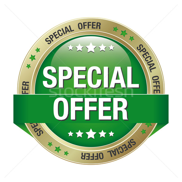 special offer green gold button Stock photo © dariusl