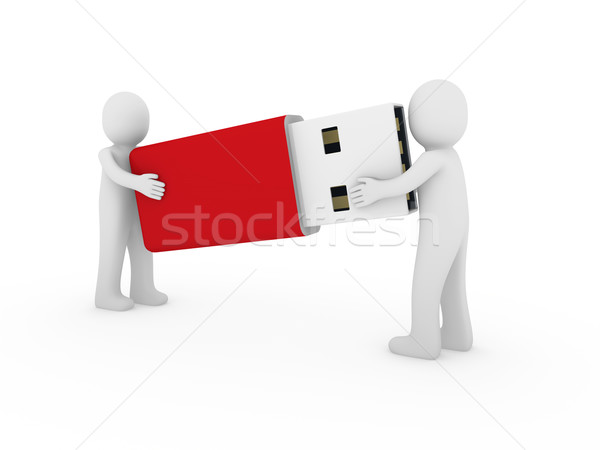 3d human men usb stick red Stock photo © dariusl