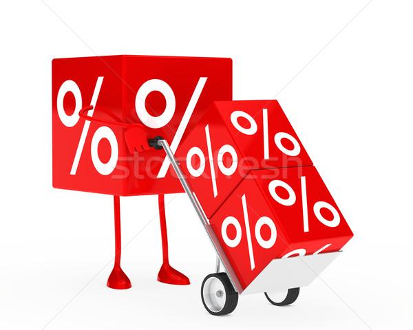 sale cube figure Stock photo © dariusl