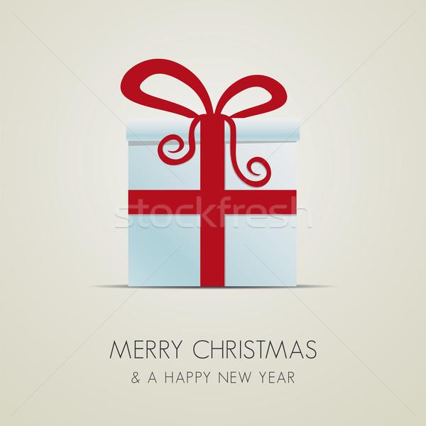 Zdjęcia stock: Christmas · szkatułce · biały · tle · polu