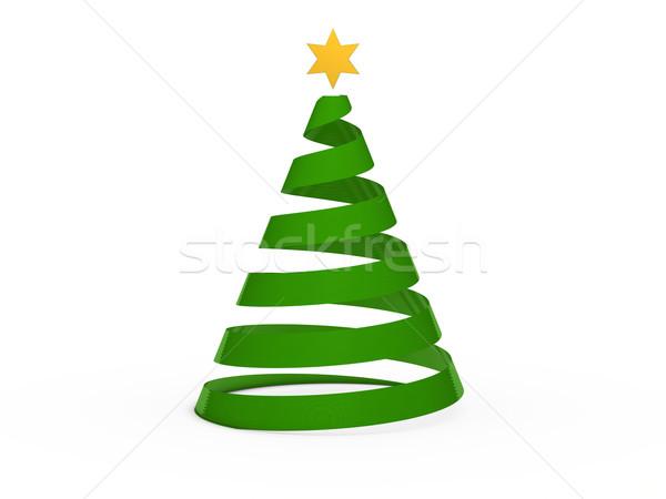 3D boom star groene goud kerstmis Stockfoto © dariusl