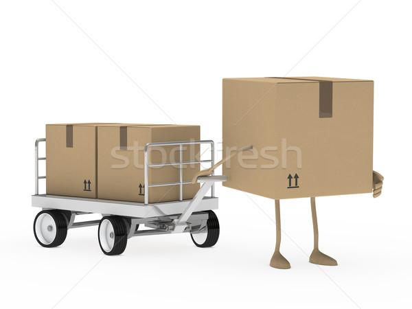 package figure draw transport trolley Stock photo © dariusl