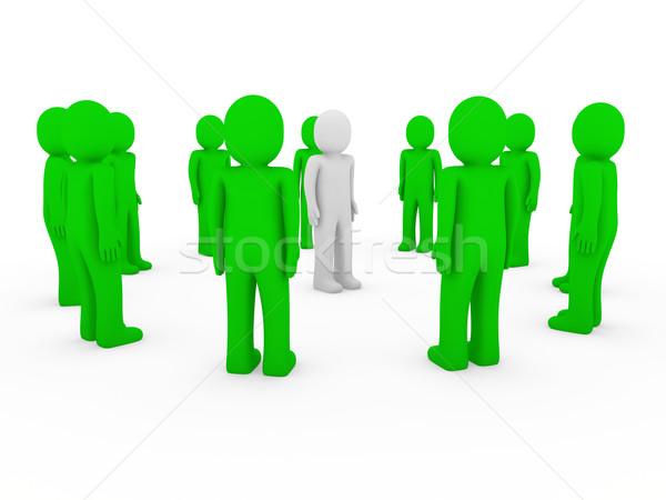3d human group circle green Stock photo © dariusl