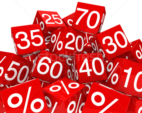 sale cubes Stock photo © dariusl