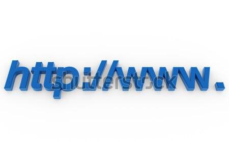 3D адрес http WWW синий изолированный Сток-фото © dariusl