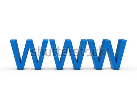 3D www Rood internet web online Stockfoto © dariusl