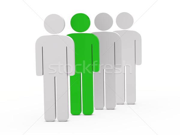 3d man vert stand affaires hommes Photo stock © dariusl
