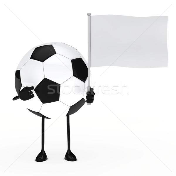 football figure hold flag Stock photo © dariusl