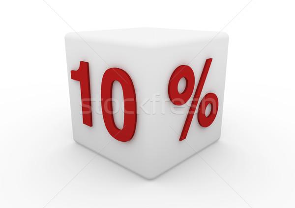 3D rojo blanco venta cubo 10 Foto stock © dariusl