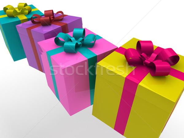 3d gift box Stock photo © dariusl