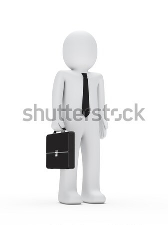 Hombre de negocios empate maletín 3D manos hombre Foto stock © dariusl