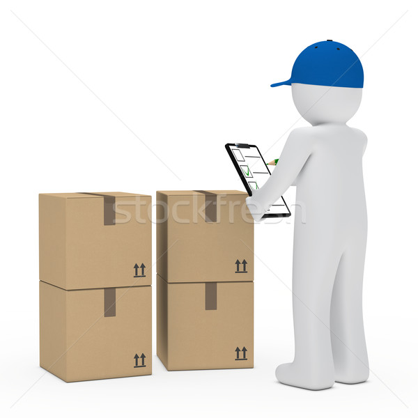 courier figure package Stock photo © dariusl