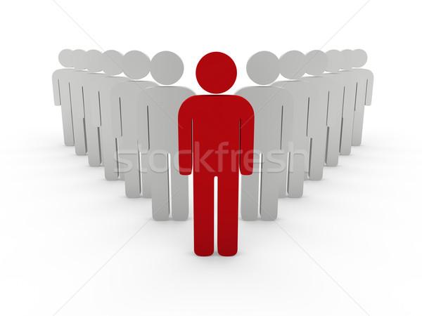 3D kierownik zespołu szef firmy czerwony zespołowej Zdjęcia stock © dariusl